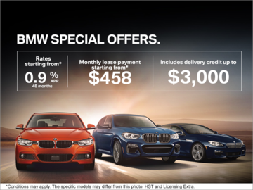 Take Advantage of Monthly BMW Offers.