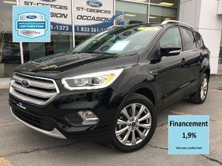 Ford Escape Titanium AWD CERTIFIÉ FORD TAUX 1.9% CUIR TOIT GPS 2018