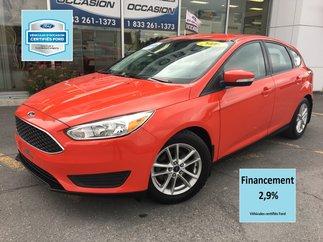 Ford Focus SE CERTIFIÉ FORD TAUX 2.9% 72 MOIS 5 VIT  MAGS 2016