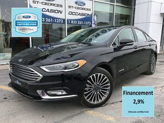 Ford FUSION HYBRID TITANIUM CERTIFIÉ FORD TAUX A 2.9% CUIR TOIT GPS 2018