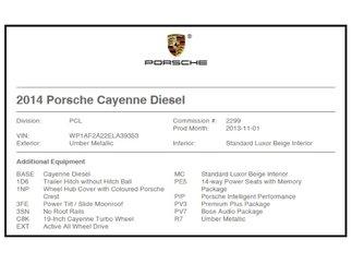 Porsche Cayenne Diesel Premium Plus 2014