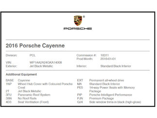 Porsche Cayenne Toit Panoramique 2016