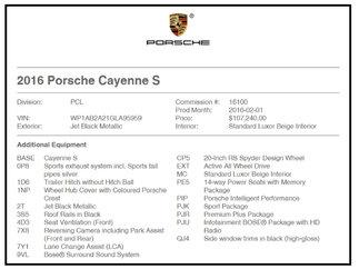Porsche Cayenne 2016 Porsche Cayenne - AWD 4dr S 2016