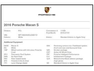 Porsche Macan S Toit panoramique 2016