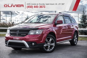 Dodge Journey Crossroad AWD+7 PASSAGERS+NAV+CAMERA+CUIR+DVD 2016