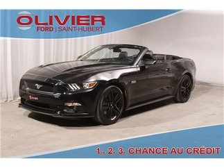 Ford Mustang GT 5.0L CONVERTIBLE CUIR BLACK MAGS (CERTIFIÉ) 2016