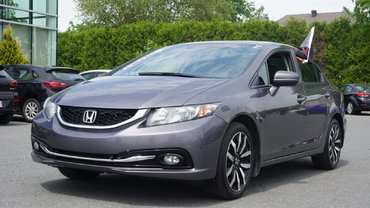 Honda Civic Sedan Touring-TRÈS PROPRE-CUIR-TOIT OUVRANT-BLUETOOTH 2014