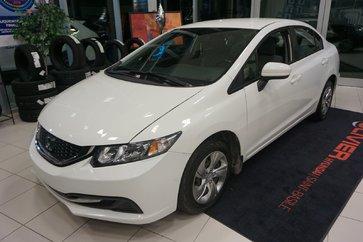 Honda Civic Sedan LX-CAMÉRA-BLUETOOTH-A/C-GR.ÉLECTRIQUE 2015