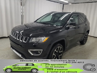 Jeep Compass Limited*TOIT PANO*AWD*NAV*CUIR CHAUFF* 2018