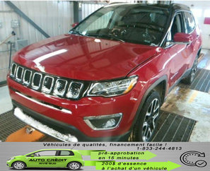 Jeep Compass Limited*NAV*DÉMARREUR*TOIT PANO*CUIR CHAUFF*CAM* 2018