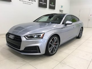 2019 Audi S5 Sportback TECHNIK BLACK OPTICS CUIR ROUGE NAV TOIT CAMERA