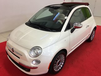 Fiat 500 CONVERTIBLE + LOUNGE + CUIR ROUGE + BLUETOOTH 2013