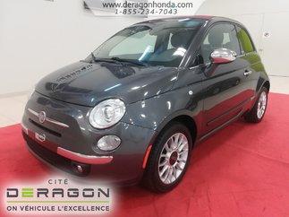 2014 Fiat 500C LOUNGE + DECAPOTABLE + AUCUN ACCIDENT RAPPORTE