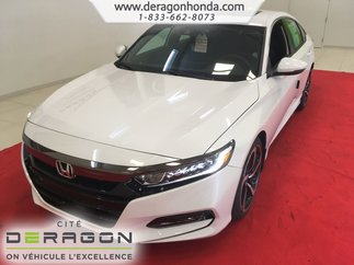 2018 Honda Accord Sedan SPORT 1.5L TURBO 192 CH + HONDA SENSING + MAG 19PO