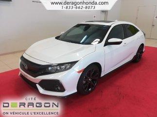 2018 Honda Civic Hatchback SPORT 1.5L TURBO 180 CH+HONDA SENSING+ROUES 18PO
