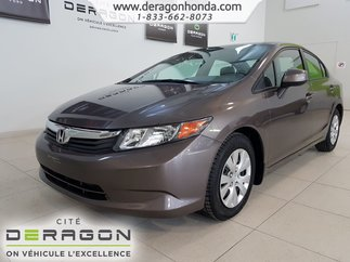2012 Honda Civic Sdn LX+AIR CLIMATISE+SEULEMENT 40,569 KILO+BLUETOOTH