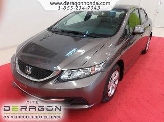 2013 Honda Civic Sdn LX + JAMAIS ACCIDENTE + BIEN ENTRETENU