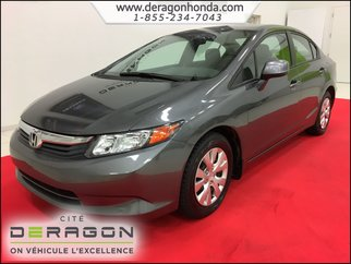 2012 Honda Civic Sedan LX 1.8L + BLUETOOTH + A/C + RÉGULATEUR DE VITESSE
