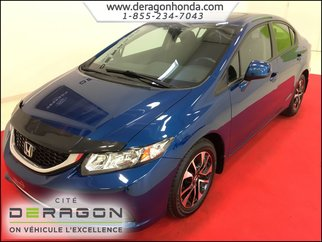 Honda Civic Sedan EX 1.8L + CAMERA DE RECUL + BLUETOOTH + AIR CLIM 2013