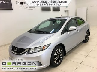 Honda Civic Sedan EX+DÉMARREUR À DISTANCE+TOIT OUVRANT+BLUETOOTH 2014