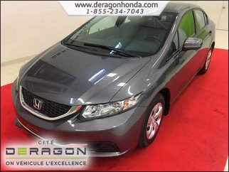 2014 Honda Civic Sedan LX 1.8L + BAS KILO + AIR CLIMATISE
