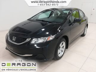 2014 Honda Civic Sedan LX+SEULEMENT 88 187KM+JAMAIS ACCIDENTE