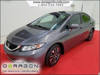 2015 Honda Civic Sedan EX 1.8L MANUELLE  + BAS KILOMéTRAGE