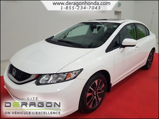 Honda Civic Sedan EX 1.8L + ROUE ALLIAGE 16PO + CAMERA DE RECUL 2015
