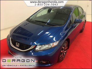 Honda Civic Sedan TOURING 1.8L + CAMERA DE RECUL + BLUETOOTH 2015