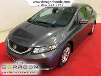 2015 Honda Civic Sedan LX 1.8L + BAS KILO + BLUETOOTH + AIR CLIM