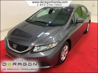 2015 Honda Civic Sedan LX + 1.8L + BAS KILO + AIR CLIMATISE