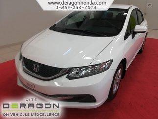 Honda Civic Sedan LX + SEULEMENT 28 535 KM + JAMAIS ENDOMMAGE 2015