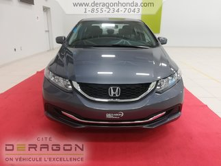 Honda Civic Sedan LX + AUCUN ACCIDENT + GARANTIE PROLONGEE GLOBALE 2015