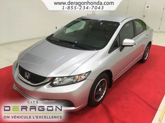 Honda Civic Sedan LX + SEULEMENT 55,000 KILOMETRES + AUCUN ACCIDENT 2015