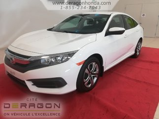 2016 Honda Civic Sedan LX + BIEN ENTRETENUE + AUCUN  ACCIDENT RAPPORTE