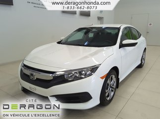 2016 Honda Civic Sedan LX+BAS KILO+CAMERA+A/C+BLUETOOTH+SIEGES CHAUFFANTS