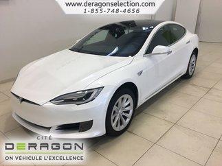 Tesla Model S 60D + TOIT PANO + AUTOPILOTE + NAV + CAMÉRA V.NEUF 2016
