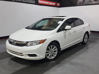 2012 Honda Civic Sdn EX- TOIT OUVRANT - A/C- MAGS-JAMAIS ACCIDENTE