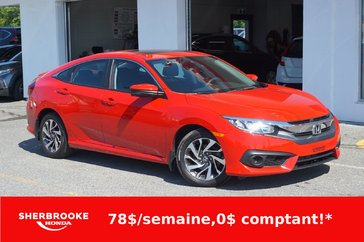 Honda Civic Berline EX, Apple Carplay, bluetooth, caméra 2017