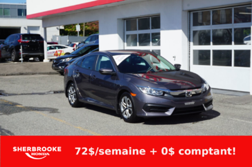 Honda Civic Berline LX, air climatisé, caméra de recul, bluetooth. 2017