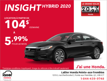 Louez la Honda Insight 2020!
