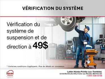 Vérification du système