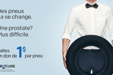Luttez contre le cancer de la prostate, en donnant 1$ par pneu d'hiver changé en concession!