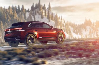 Les prototypes de Volkswagen Atlas Cross Sport sur la route