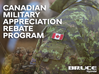 Canadian Military Appreciation Rebate Program