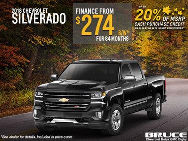 Finance the 2018 Chevrolet Silverado