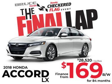 Finance the 2018 Honda Accord LX for $169 Bi-Weekly