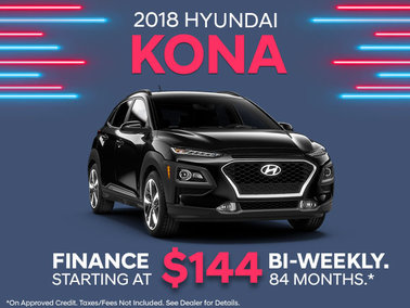 Finance the 2018 Kona