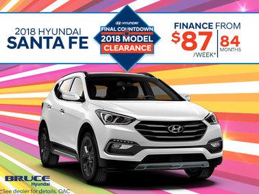 Finance the 2018 Santa Fe
