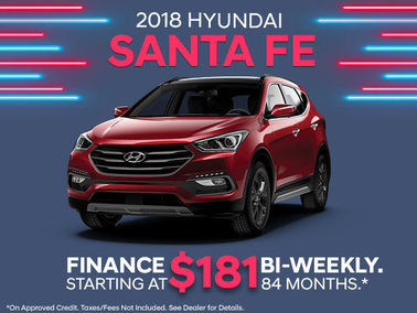 Finance the 2018 Santa Fe Sport